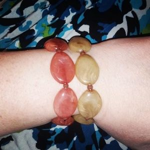Stretchy bracelet set